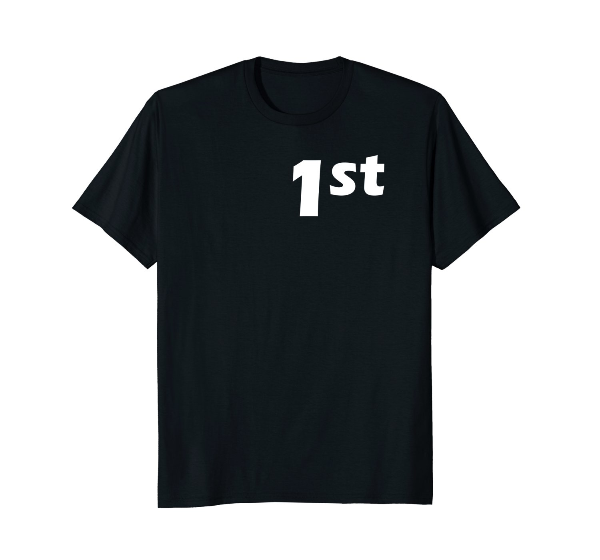 1st Place Cyclist front T-Shirt