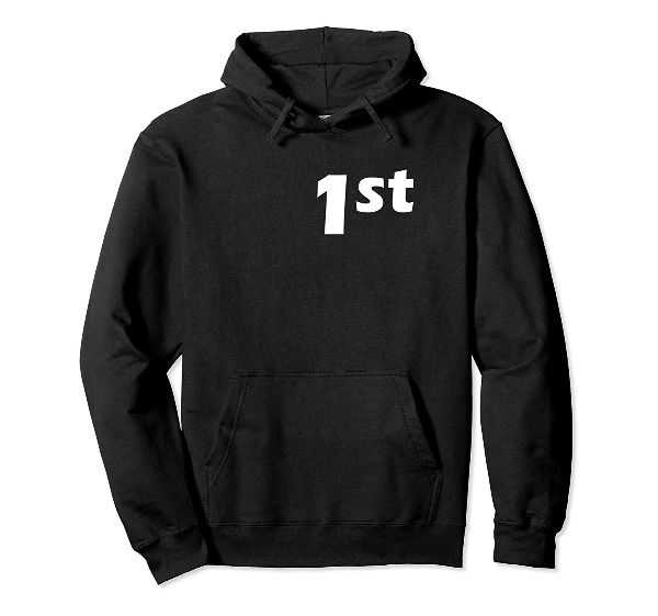 1st Place Cyclist front Hoodie